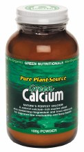 GREEN NUTRITIONALS -Green Calcium (Plant Source) Powder 100g
