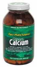 GREEN NUTRITIONALS -Green Calcium (Plant Source) Capsules (883mg) 240