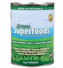 GREEN NUTRITIONALS -Green Superfoods Powder 1kg