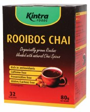 KINTRA FOODS -Rooibos Chai - Tea Bags x 32 Rooibos Blend with Chai Spices 80g