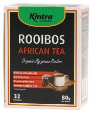 KINTRA FOODS -Rooibos African Tea Bags x 32 Organically Grown Rooibos 80g