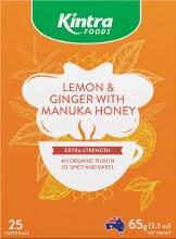 KINTRA FOODS -Herbal Tea Bags Lemon & Ginger With Manuka Honey