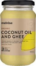 MELROSE -Coconut Oil & GheeOrganic
