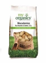 Organic Macadamia Dry R&S 200gm