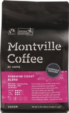 MONTVILLE COFFEE -Coffee Ground (Espresso) Sunshine Coast Blend 250g