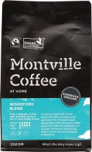 MONTVILLE COFFEE -Coffee Ground (Espresso) Woodford Blend 250g
