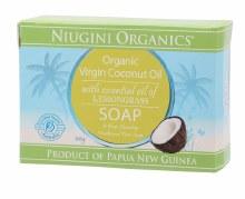 NIUGINI ORGANICS -Soap Coconut Oil - Lemongrass 100g