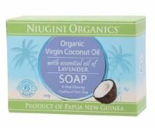 NIUGINI ORGANICS -Soap Coconut Oil - Lavender 100g