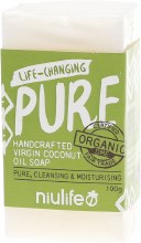 NIULIFE -Coconut Oil Soap Pure - Unscented 100g