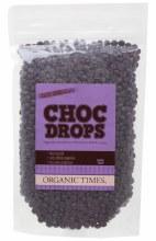 ORGANIC TIMES - Choc Drops Dark Chocolate Couvertre Drops 500g