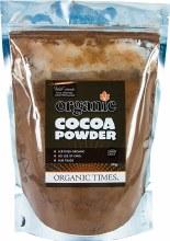 ORGANIC TIMES -Cocoa Powder  500g