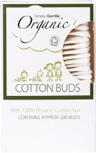 SIMPLY GENTLE ORGANIC - Cotton Buds  200