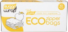 Eco Zipper BagsMade from Sugarcane - Small 40