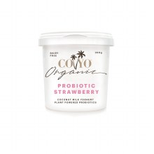 Organic Coconut Milk Yoghurt Probiotic Strawberry 500g