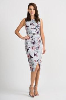 Joseph Ribkoff 201222 Wrap Dress 10 Gr/Mu