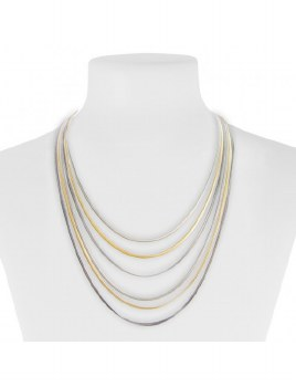 Caracol Layered Chain Necklace 1081-Mixed
