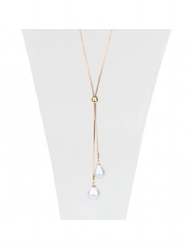 Caracol Necklace with Pearls 1172-GLD