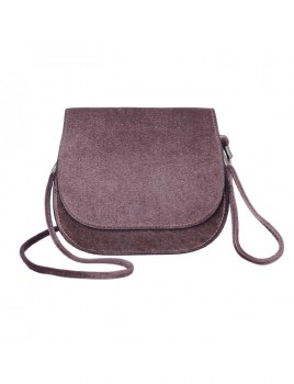 Caracol Velvety Clutch Taupe