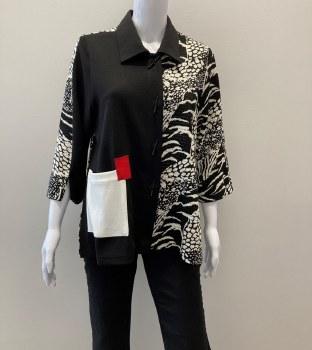Moonlight Patch Pocket Jacket 3253 L Black/White