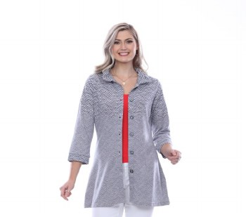 Parsley & Sage 20t66G1 Grace Long Shirt L Grey