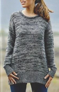 River KN1224 Pullover Sweater L Gray/Black