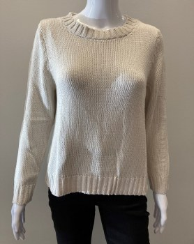 River KN982 Sweater with Side Buttons L Natural