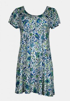 Salaam Cap Sleeve Lucy Dress L Print 1727