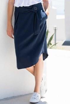 Marble 5744 Tencel Skirt L Indigo