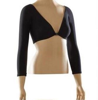 Sleevey Wonders S30104 3/4 Slv Jersey Sleeves L Black