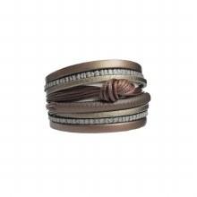 Caracol Multistrand Bracelet 3114-BRN