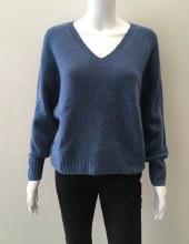Cashmere Clouds Cashmere V-neck Sweater XS Blue