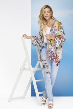 Charlie B Dolman Sleeve Kimono Jacket XS Rainbow