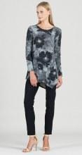 Clara Sunwoo Tunic W/Angle Hem T69WP20 L Black/Grey