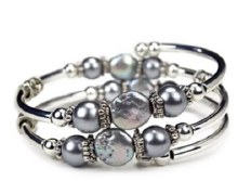 Crazyart Grrl Gem Bracelet Silver Oyster