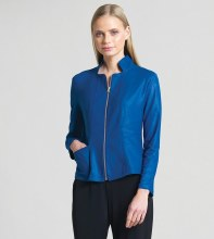 Clara Sunwoo Liquid Leather Jacket JK163 S Cobalt
