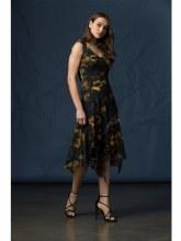 Komarov Sleeveless Long Assymetrical Dress