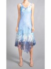 Komarov Sleeveless V-neck Assymmetrical Dress