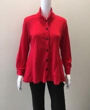 Cubism 307-13569 Collar Button Shirt S Red