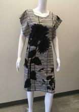 Cupcake 3053 Black/White Capped Sleeve Dress S Black