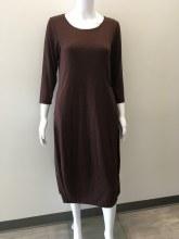 Cut loose 3/4 Sleeve Lantern Jersey Knit Dress XS Barnwood