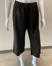 Cut loose Linen Easy Crop Pant 4402349 S Black