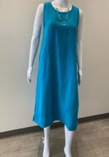 Cut Loose Linen Easy Tank Dress 4400113 XS Bahama