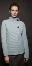 Fisherman Out of Ireland FSQ20A Two-Button Cardigan L Duck Egg
