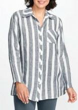 Flax 418B1778 Bias Back Shirt P Black