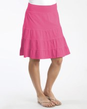 Fresh Produce Jersey Tier Skirt ASKTIER XS Papaya Fruit