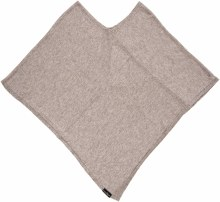 Fraas Triangle Jersey Poncho O/S Taupe
