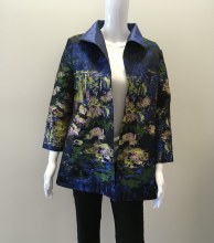 Grace Chuang Swing Style Jacket S Blue Print