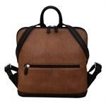 ILI Mini Leather Backpack Toffee/Black