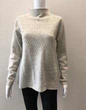 In Cashmere Mock Neck Cashmere Sweater L Heather Fog