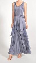 Komarov CAD19433SO Long Sleeveless Ruffle Dress XS PPA